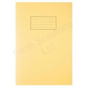 silvine-exercise-book-ruled-and-margin-80-pages-a4-yellow-ref-ex109-pack-10