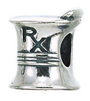 Genuine Zable (TM) Product. 925 Sterling Silver Rx Mortar & Pestle Charm. 100% Satisfaction Guaranteed.