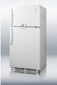 Crossley Appliances CTR15LLF2 Refrig/Freezer Combo Lock/Key 14.8cuft Wht Ea