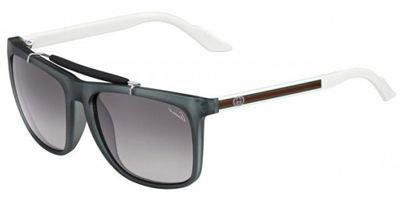 GucciGucci 3588S W2C Grey and White 3588S Square Sunglasses