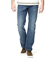 North Coast Straight Fit Denim Jeans with Belt