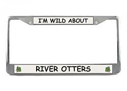 River Otter License Plate Frame (Chrome) <br>5 Year Warranty