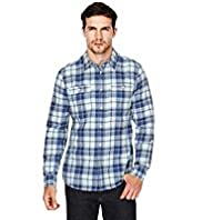 North Coast Pure Cotton Herringbone Checked Shirt