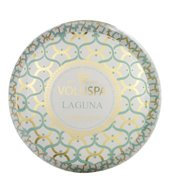 Voluspa 2 Wick Metallo Candle- Laguna