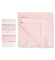 5 Pack Pure Cotton Assorted Muslin Cloths