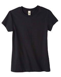 Bella Ladies 4.2 Oz. Organic Cotton Jersey T-Shirt - Black - L front-1038161