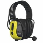 Electronic Ear Muff, 25dB, Over-the-H, Yel