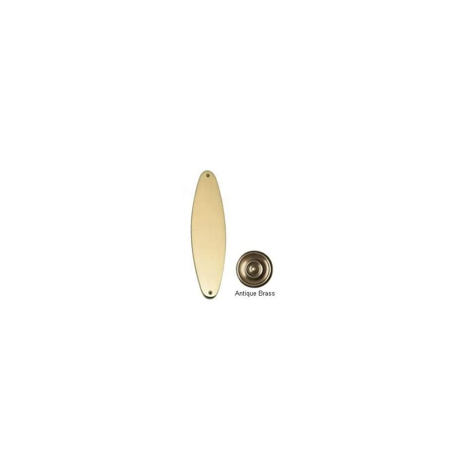 Brass Accents A07 P8390 609 Oval Traditional Antique Brass Push Plate