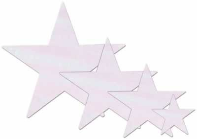 Opalescent Star Cutout Party Accessory (1 count) - 1
