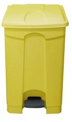 70 Litre Step On Container Waste Bin Pedal Bin Plastic, Yellow Clinical Waste by rubbish-bins.com by Chabrias Ltd (70 Liter Container compare prices)