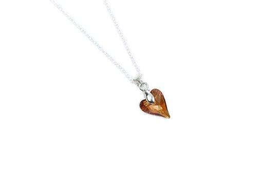 Swarovski Wild Heart Copper Pendant & Sterling Silver Chain