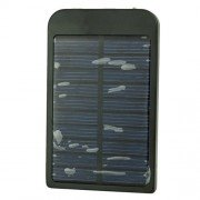 2600mAh Solar Mobile Charger w/ Charging Adapters - P1100F 09 Black