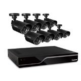 Defender Sentinel 8CH 500GB Smart Security DVR Including 8 Hi-Res Indoor/Outdoor Cameras with 75ft Night Vision,21029