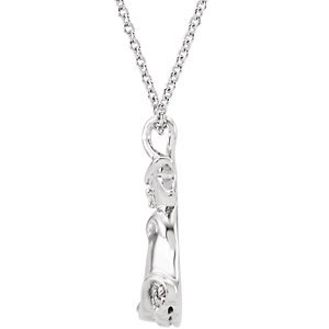 Genuine IceCarats Designer Jewelry Gift Sterling Silver .02 Ctw Dia Disney Sleeping Be 01.00 Mm 14 Inch .02 Ctw Dia Disney Sleeping Be In Sterling Silver
