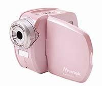 Mustek DV510V pearlescent pink 3 megapixel digital camera / camcorder