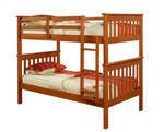 Twin over Twin Mission Bunk Bed in Espresso