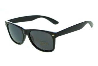Oramics® Schwarze Retro Wayfarer Sonnenbrille Nerd Brille klar & schwarz (Nerd Sonnenbrille Schwarz)