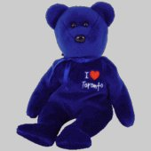 1 X TY Beanie Baby - TORONTO the Bear (I Love Toronto - Canada Exclusive)