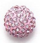 Bijoux By Me 12mm Pflaster-Fimokristallset Shamballa Armbandperlen - DIY Schmuckmachen Rosa 4 Stück