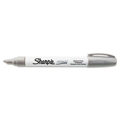 Sanford SAN - Sharpie Paint Marker, Oil Base, Medium Point, Silver (35560) - 1