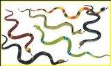 Happy Deals Realistic Rubber Rainforest Snakes Action Figure, 14-Inch (12-Piece)