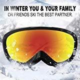 JK MOTION Chrome Ski Goggles-Anti Fog Snow Goggles-100% UV Protection,Goggles Ski/Snowboard Goggles for Men,Women&Youth (Color: goggle-2)