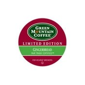 Green Mountain Coffee Fair Trade Gingerbread K-cups 24ct Seasonal from Boba Tea Direct
