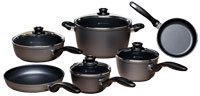 Swiss Diamond Nonstick 10 Piece Cookware Set + Bonus 9.5 inch Crepe Pan
