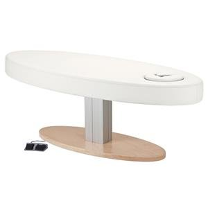 Earthlite Everest Spa Oval Single Pedestal Electric Lift Massage Table W/ Embedded Face Hole