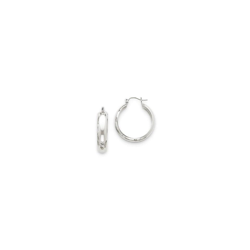 14k White Gold Hoop Earrings Jewelry