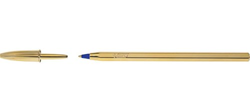 bic-stylo-bille-cristal-celebrate-edition-limitee-pte-bleu-corps-or