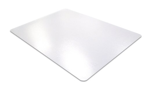 Cleartex UltiMat Polycarbonate Smooth Back Chair Mat for Hard Floors, Clear, 53 x 48 Inches, Rectangular (1213419ER)