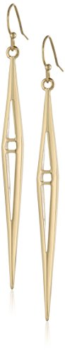 Bcbgeneration Cut Out Thin Gold Kite Drop Earrings front-315693