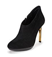 Autograph Premium Suede Water Resistant Metal Heel Shoe Boots with leather lining and Insolia®