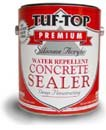 Buy TUF TOP 12-081 WHITE SILICONE ACRYLIC WATER REPELLENT CONCRETE SEALER SOLVENT BASED SIZE:1 GALLON. (TUF TOP Painting Supplies,Home & Garden, Home Improvement, Categories, Painting Tools & Supplies, Paint Stain & Solvents)