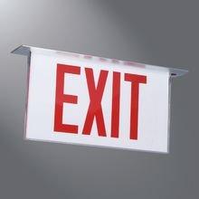 Recessed exit sign
