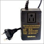 Simran SMF-200 Deluxe 200 Watts Step Down Voltage Converter for International Travel to AC 220V/240V Countries