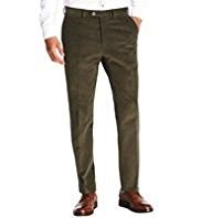 Sartorial Luxury Winter Weight Cotton Rich Tailored Fit Corduroy Trousers
