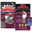 (10)Nit Free Terminator Lice Comb, Professional Stainless Steel Louse and Nit Comb for Head Lice Treatment, Removes Nits