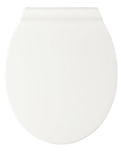 20139100 Premium WC-Sitz Sandwich - Easy-Close Absenkautomatik, rostfreie Fix-Clip Hygiene Edelstahlbefestigung, Kunststoff - Duroplast, 37 x 44 cm, Weiß