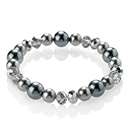 M&S Collection Pearl Effect Sparkle Bead Stretch Bracelet