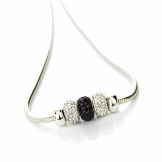 Sterling Silver Romantic necklace With Black