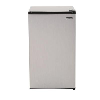 Magic Chef 3.5 Cu. Ft. Mini Refrigerator in Stainless Look, Energystar