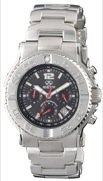 REACTOR Men's 75601 Critical Mass Chronograph Black Coral Dial Stainless Steel Watch