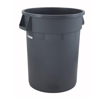 Winco Heavy Duty Large Grey Trash Can 44 Gallon