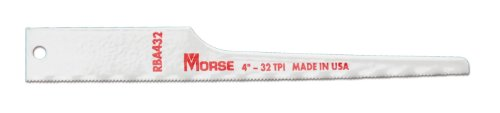 MK Morse RBA432T05 32TPI Air Saw Reciprocating Blade, 4-Inch, 5-Pack (Auto Body Saw compare prices)
