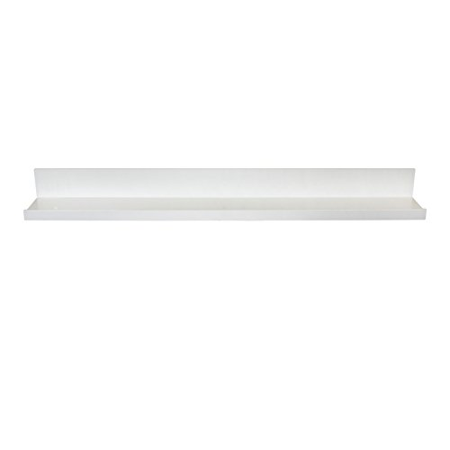 InPlace Shelving 9084678 Picture Ledge Floating Shelf, 36-Inch Long, White