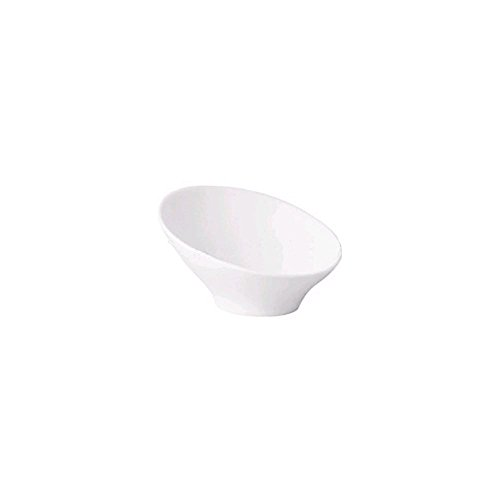 Front Of The House DBO057WHP21 32 Oz. Slanted White Bowl - 4 / CS