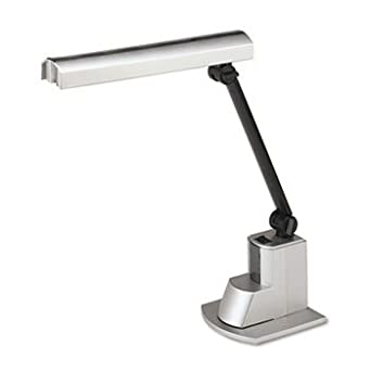 Fluorescent Desk Lamp, Electronic Ballast, Folding Shade, 15-1/2 Inch, Silver by LEDU (Catalog Category: Furniture & Accessories / Lamps & Lighting)