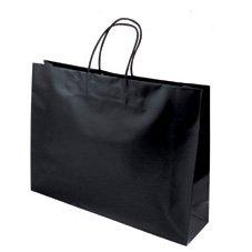 紙袋 手提げバッグ マットバッグ Y ブラック 42-1507